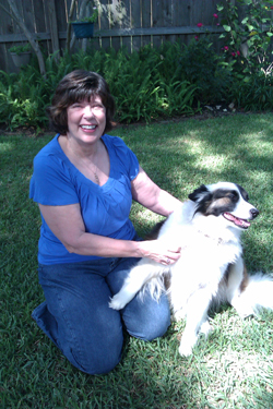 susan c muller with dog